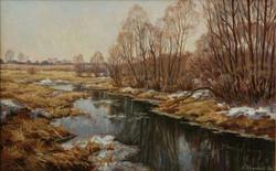 14. Весенняя река-50х70см-к.м.2000г..