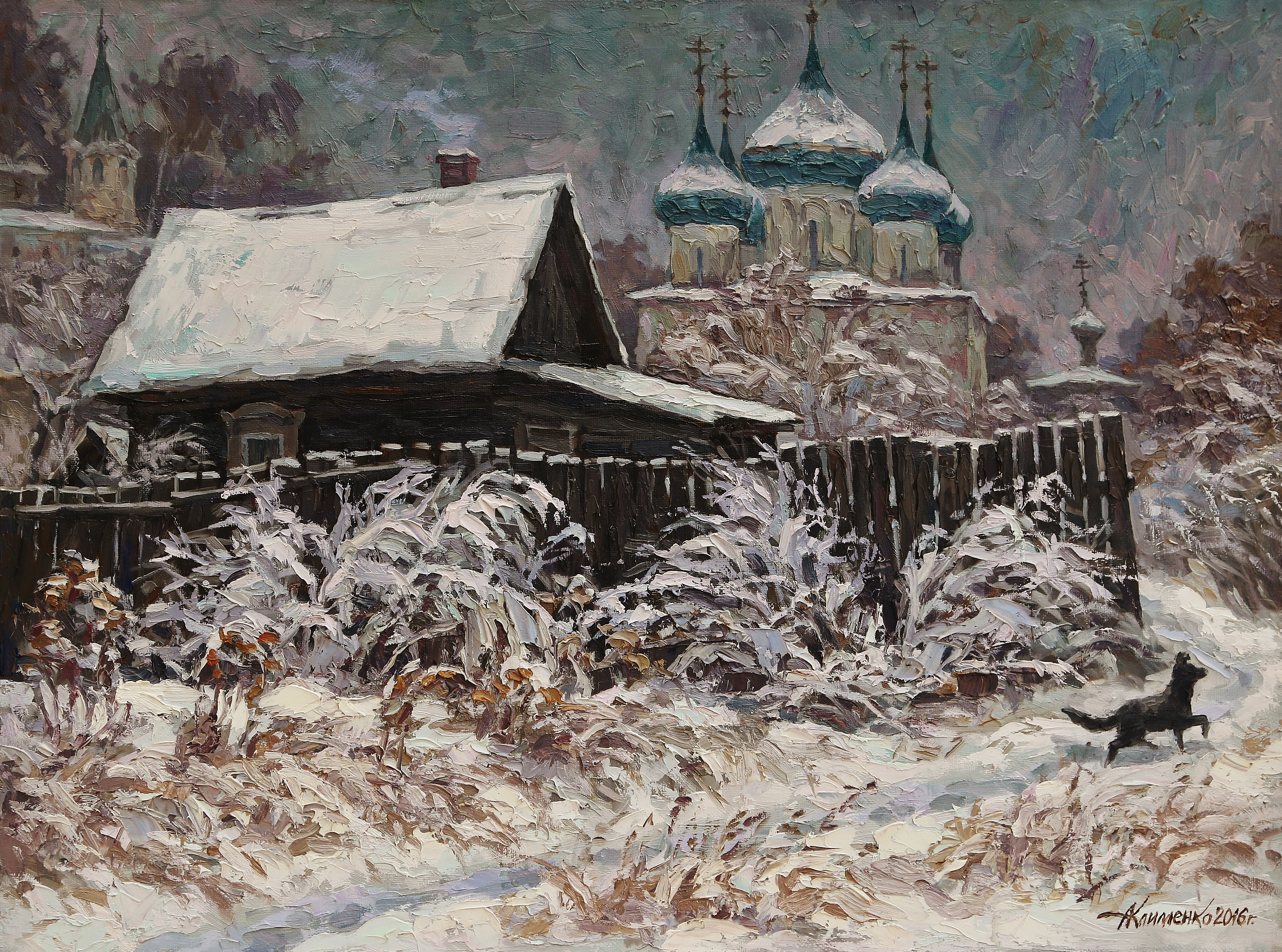 Первый снег в старом Гороховце 60х80х.м.