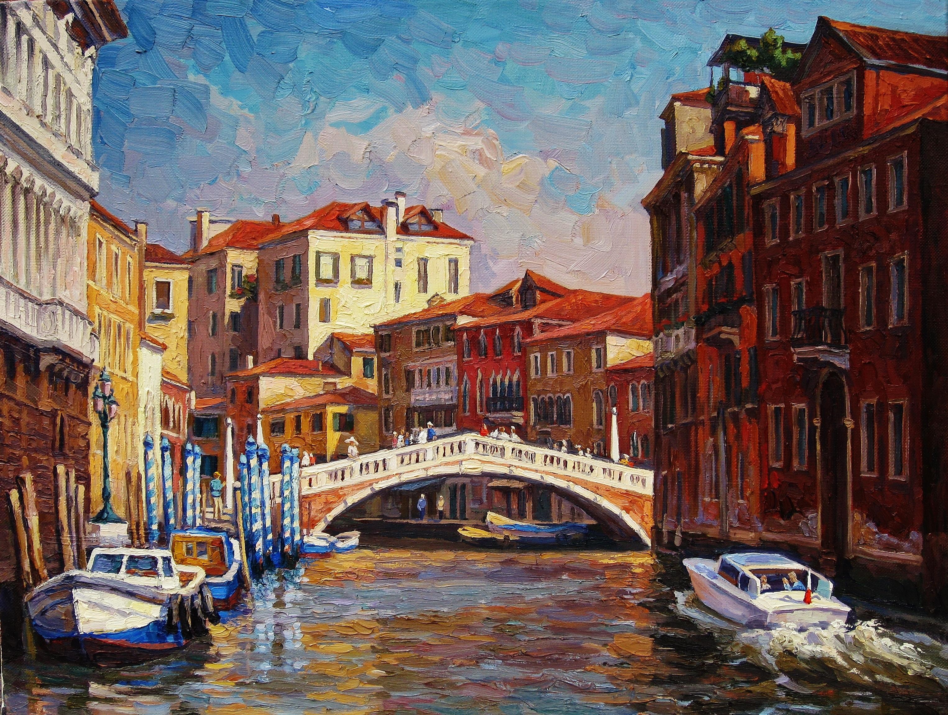 31. Гранд-канал в Венеции-60х80см-х.м