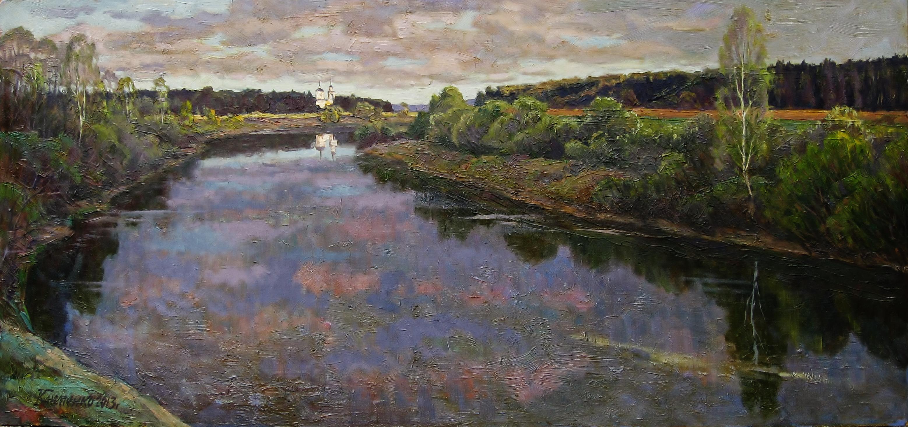 18. Река-Шоша-50х107см-к.м.2011г.