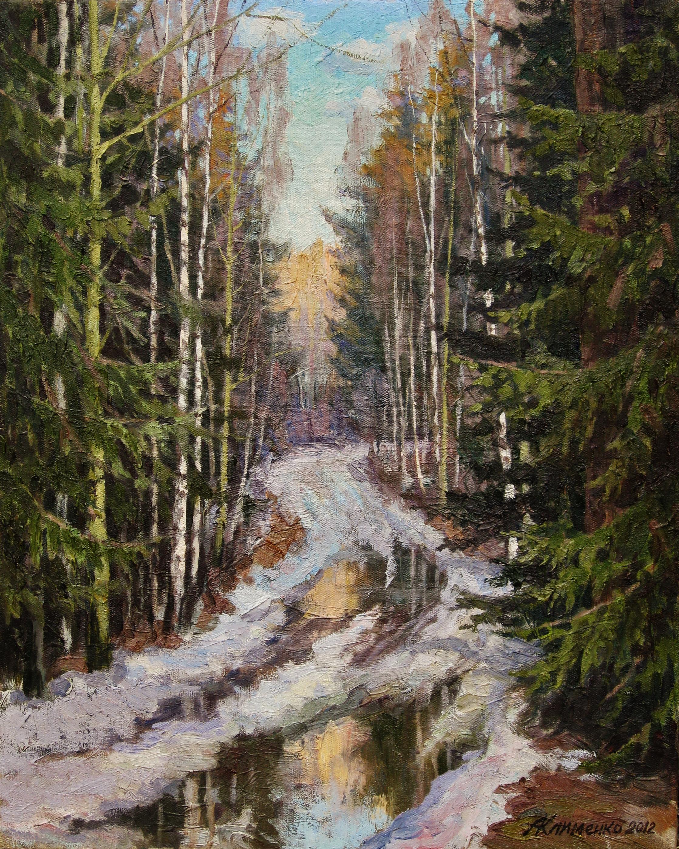12. Дорога в лесу-50х62см-х.м.2002г.