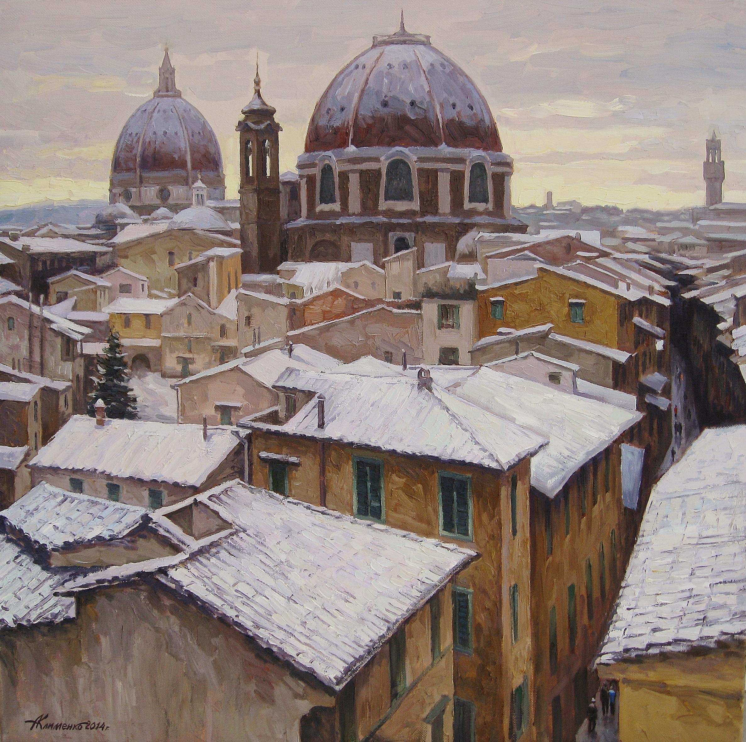 34.Флоренция зимой-90х90-х.м.2013г.