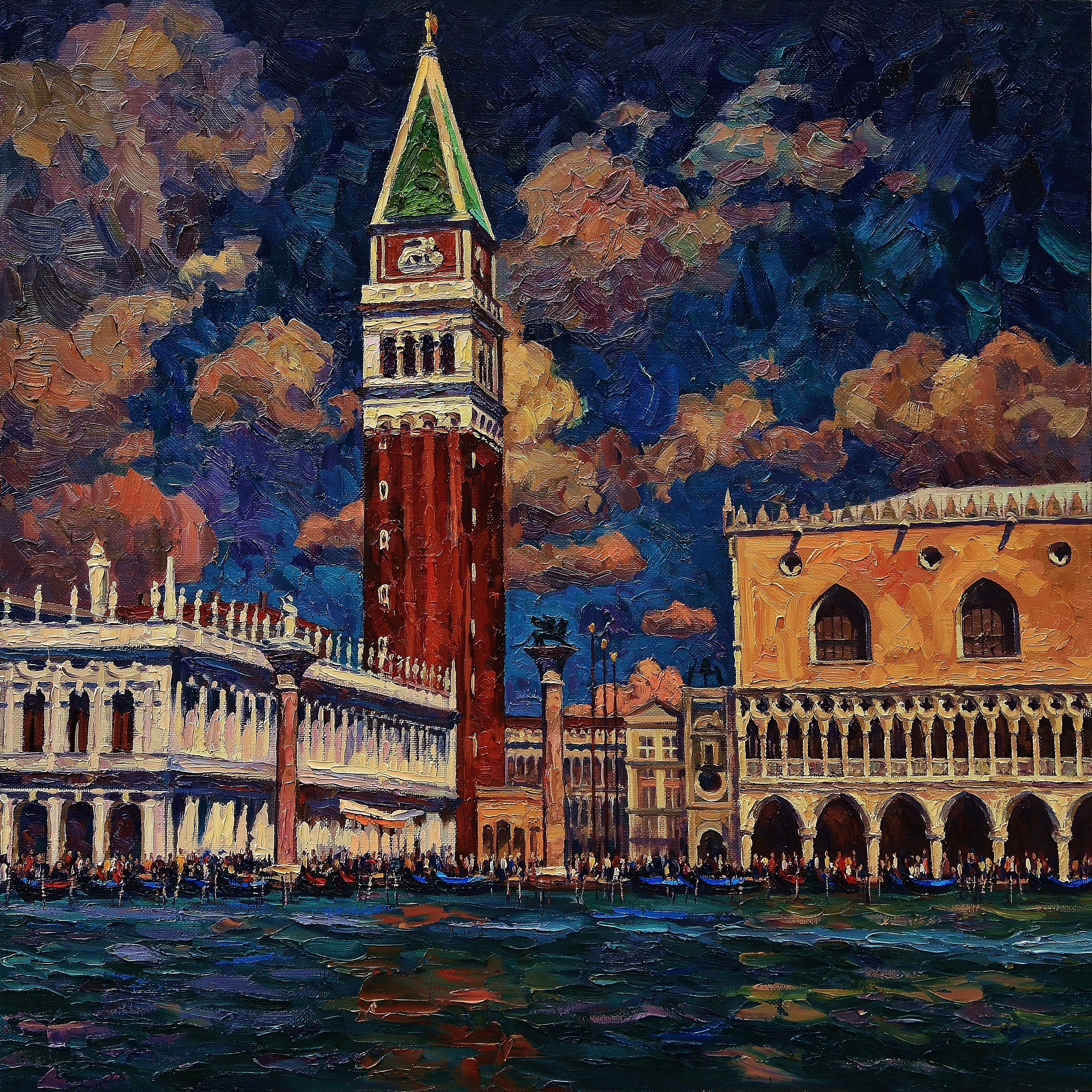 Облака над Венецией-100х100х.м.2015г.