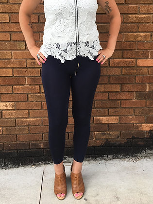 Navy Blue Stretchy Leggings