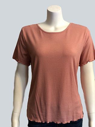 Plus Size Mauve Knit Top