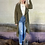 Thumbnail: Olive Open Front Lightweight Long Sleeve Trench Coat Jacket