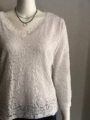 Ivory Lace Plus Size Top