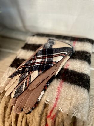 GIFT SET 2 - Beige Winter Scarf + Gloves