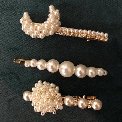 Pearled Moon Bobby Pins
