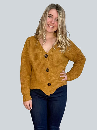 Carmel Long Sleeve Button Sweater