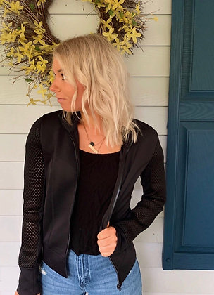 Black Activewear Zip Up Jacket