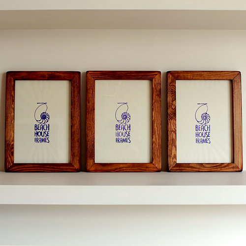 3 Handmade Rustic Picture Frames A2, A3, A4, A5, 4x4, 5x5, 6x6, 6x8 ...
