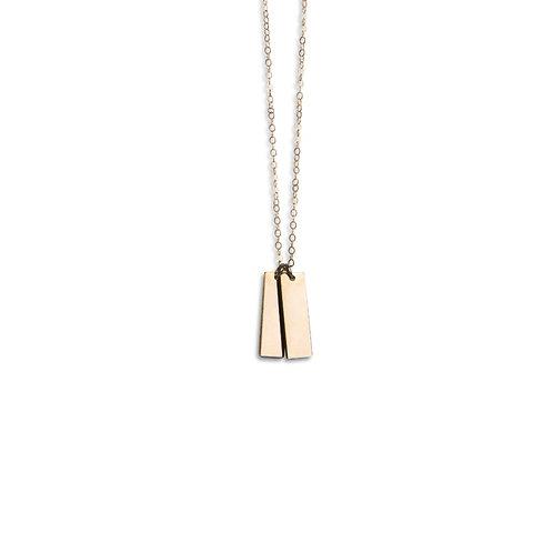 Double short bar necklace