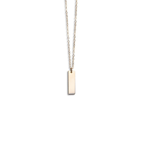Short vertical bar necklace