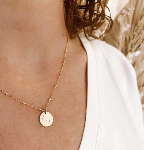 Satellite circle necklace