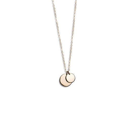 Circle necklace tiny extra
