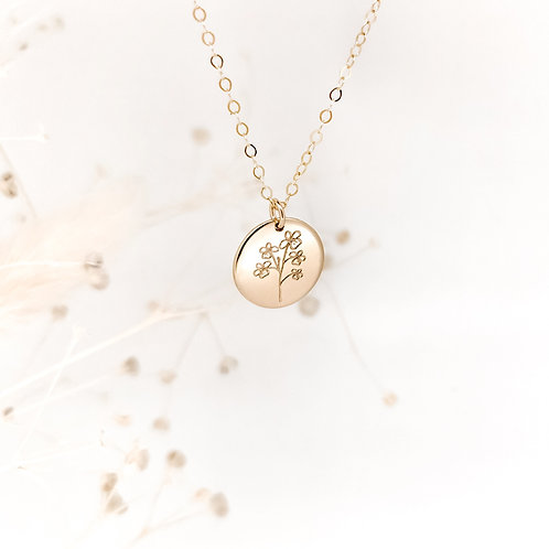 Floral Family Tree necklace