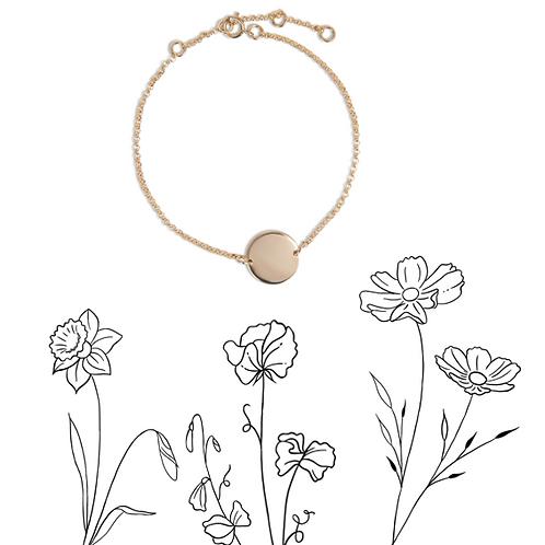 Birthflower bracelet