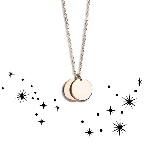 Zodiac double necklace