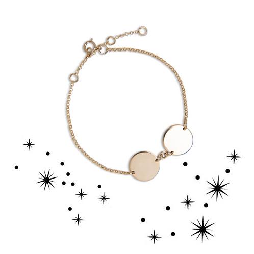 Zodiac double circle bracelet