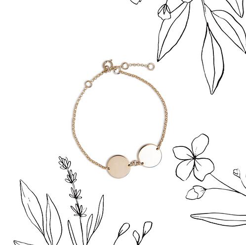 Wildflower double circle bracelet