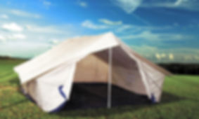 Ridge Tent, Canvas Tent, Double Fly Tent, Relief Ridge Tent