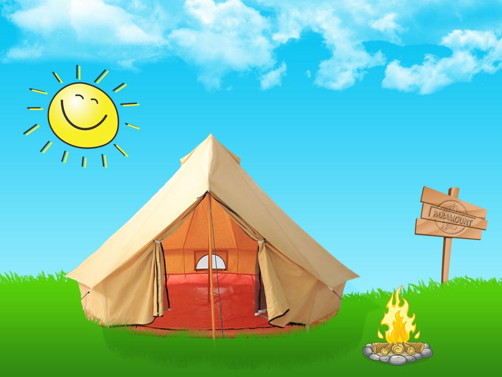 Bell Tent Cartoon, Bell Tent Camping