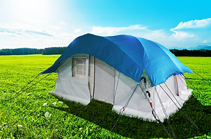 Self Standing Tent, Family Tent, UNHCR tent, Round Tent, Shade Net Tent, Relief Tent, Refugee Tent, Emergency Tent