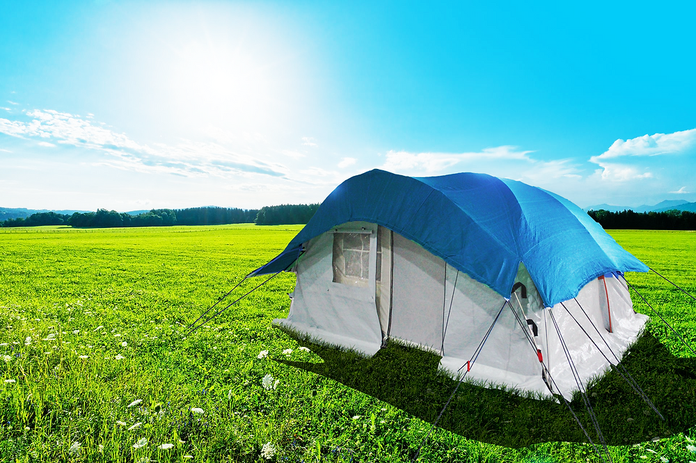 Self Standing Tent, Family Tent, Round Tent, Shade Net Tent