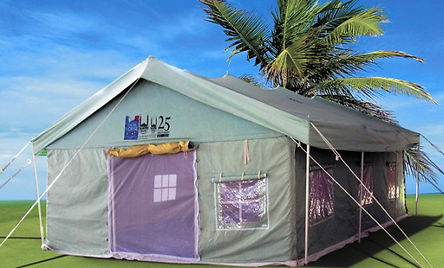 all weather frame tent, weather tent, canvas tent, relief tent, big tent
