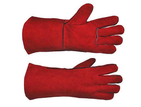 welding gloves, elastic cuff gloves, red welding gloves, rubber cuff gloves, workwear, suede leather gloves, hazard gloves, waterproof gloves, pakistan welding gloves, welding gloves import, welding gloves company, welding gloves buy