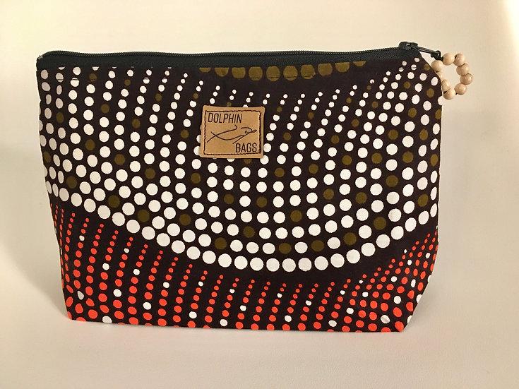 Cosmetic Bag - UZURI 1 - brown dot