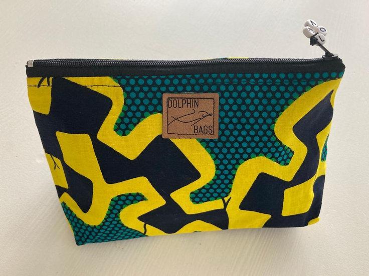 Cosmetic Bag - UZURI 1 - yellow snake