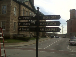 way finding sign Westerly Rhode Island