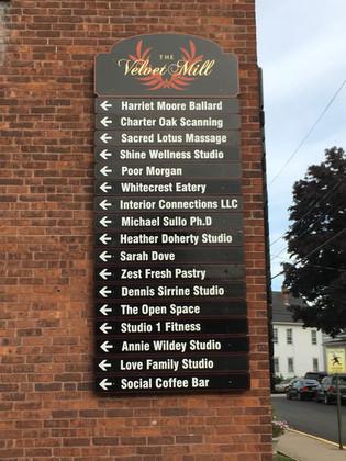 Multitenent mall sign - Velvet Mill