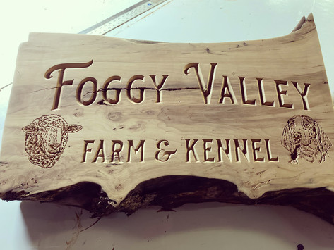 carved dimensional signs