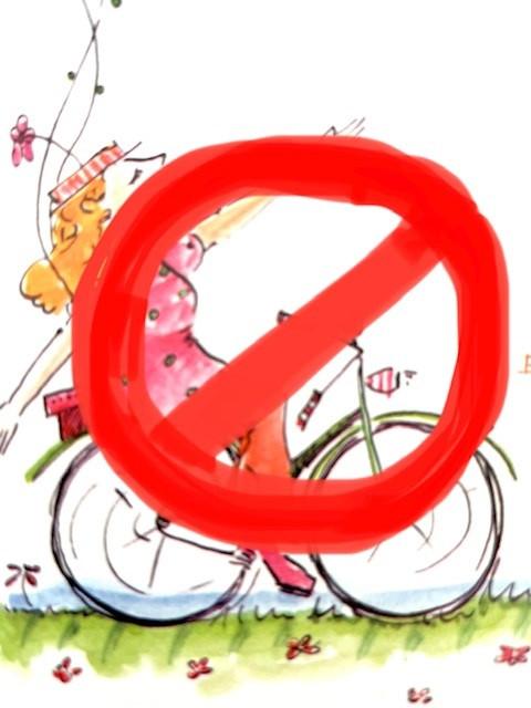 Roller und Fahrrad fahren