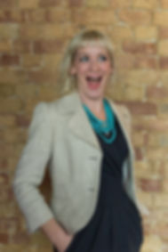 Kirsten Goodwin  (Career Coach, expert in Career Coaching) grinning because she has chosen a career she loves