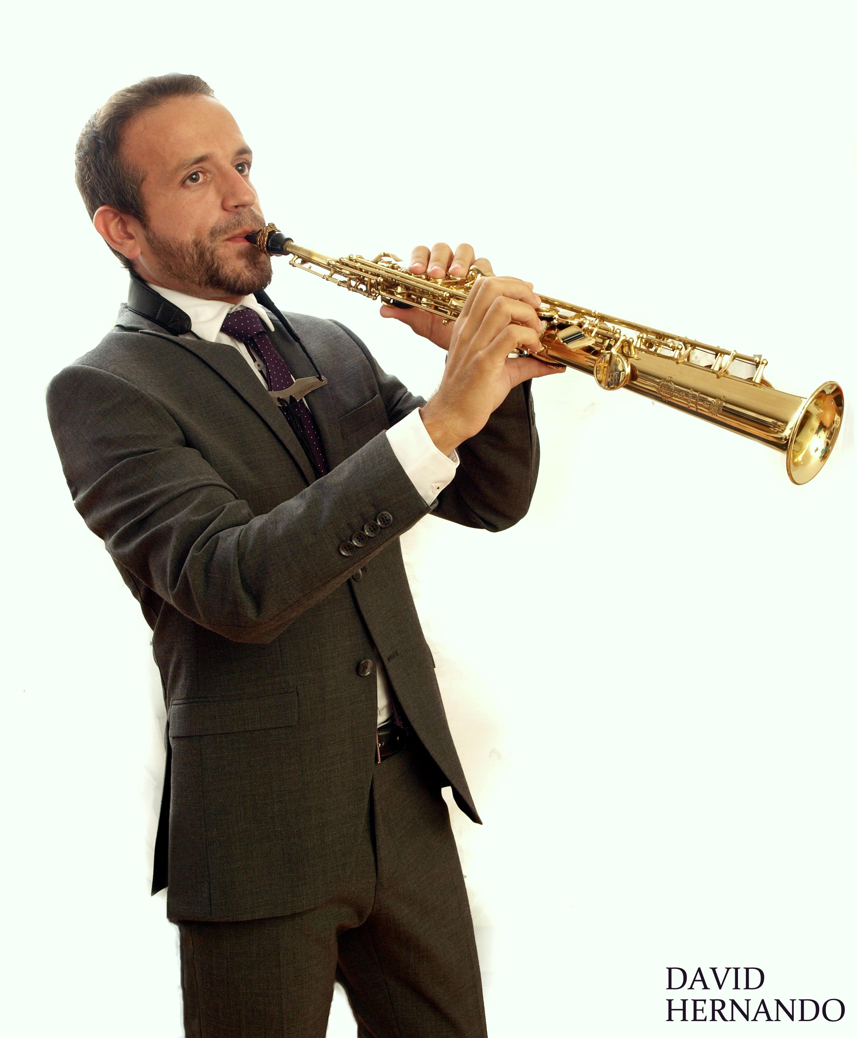 David Hernando saxofonista. 2018