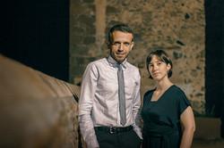 David Hernando y Silvia Nogales