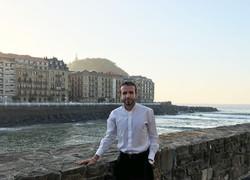 David Hernando en San Sebastián