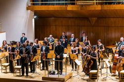 David Hernando con la Orquesta Più M