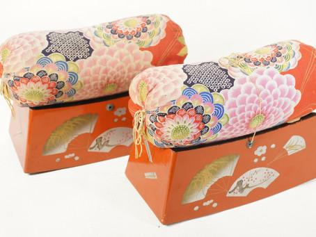 家族代々大切に使われた思い出のお品!日本のアンティークの「箱枕」