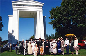 Peace Arch Dedication Reenactors