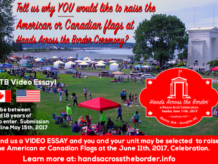 VIDEO ESSAY! Tell us why YOU would like to RAISE the Flag on the PEACE ARCH!