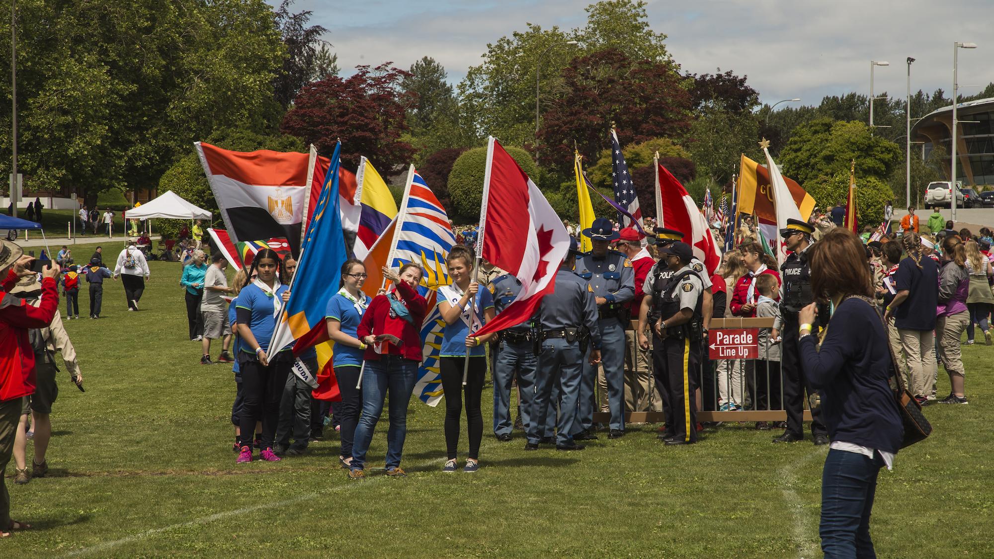 Girl Guides BC prepare for HATB Ceremony