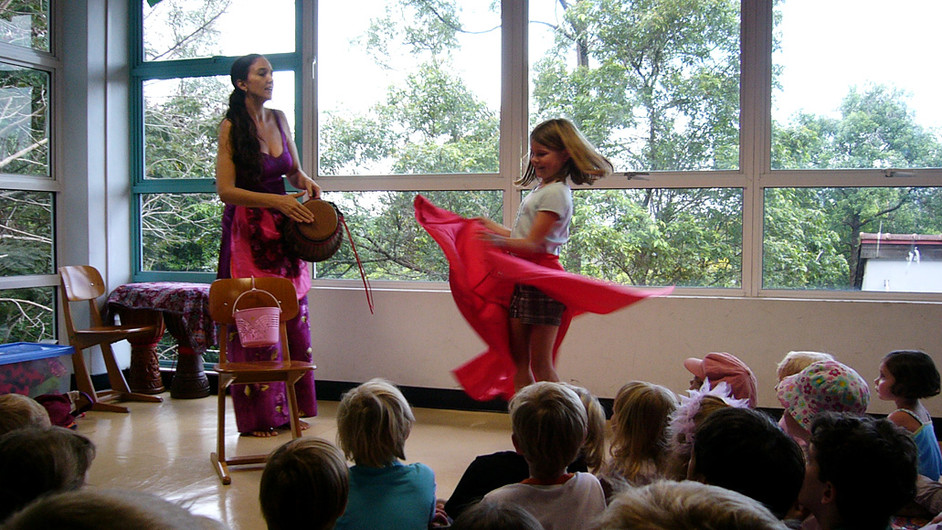 Stories are drumming, music, and movement