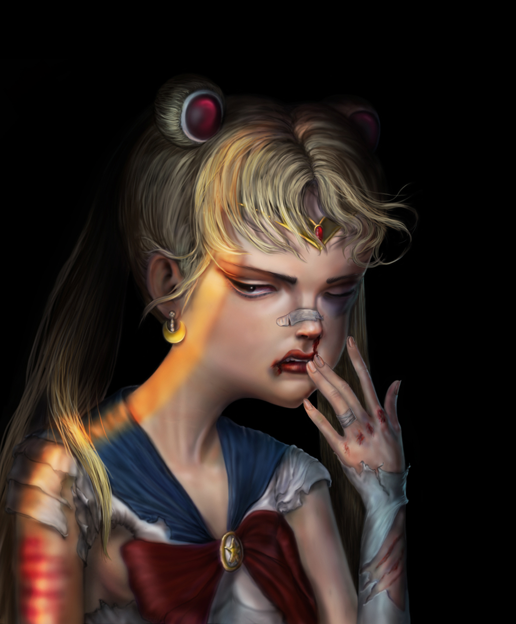 SailorMoon after the battle