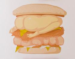 Almighty Burgeress, oil on canvas, 2019,