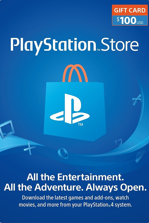 100 USD PSN Gift Card PlayStation Network - PS3/ PS4/ PS Vita